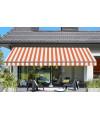 Toile de store Orange-Blanc Sauleda Sensation 2052