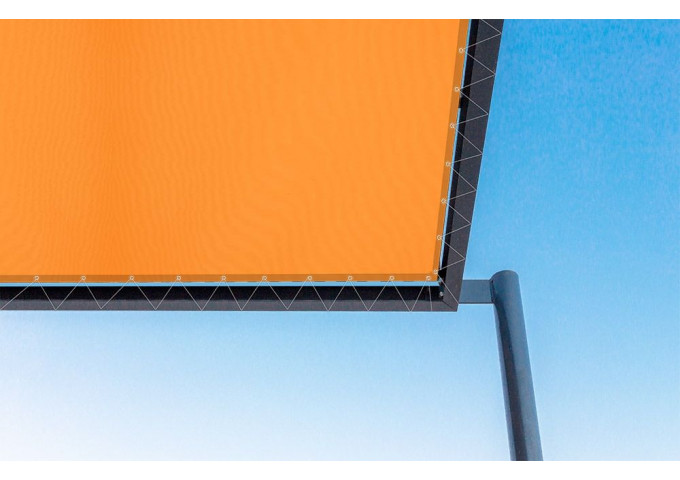 Toile de pergola mandarine orange dickson orchestra 0867