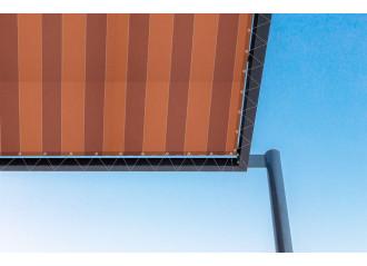 Toile de pergola dickson Color Bloc Orange d332
