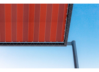 Toile de pergola dickson Color Bloc Red d335