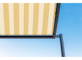 Toile de pergola arizona jaune Sauleda Sensation 2005