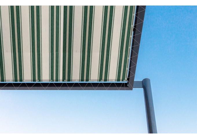 Toile de pergola aneto vert Sauleda Sensation 2012