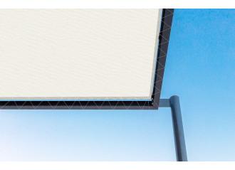 Toile de pergola blanco-r blanc Sauleda Sensation 2042