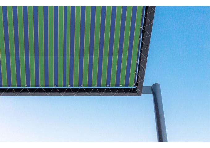Toile de pergola capri bleu Sauleda Sensation 2063