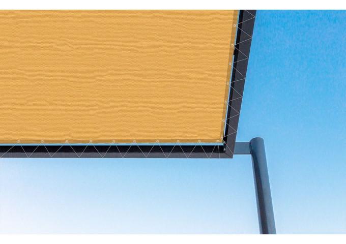 Toile de pergola Mandarine orange Sauleda Sensation 2142
