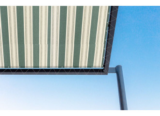 Toile de pergola pluton vert Sauleda Sensation 2179