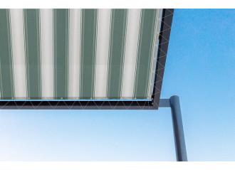 Toile de pergola stuttgard vert Sauleda Sensation 2571