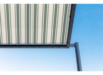 Toile de pergola itaca vert Sauleda Sensation 2581