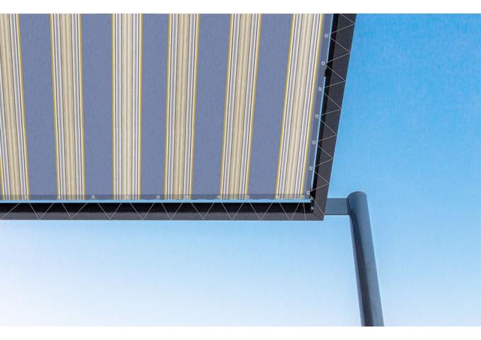 Toile de pergola miami bleu Sauleda Sensation 2702