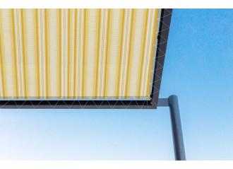 Toile de pergola york jaune Sauleda Sensation 2930