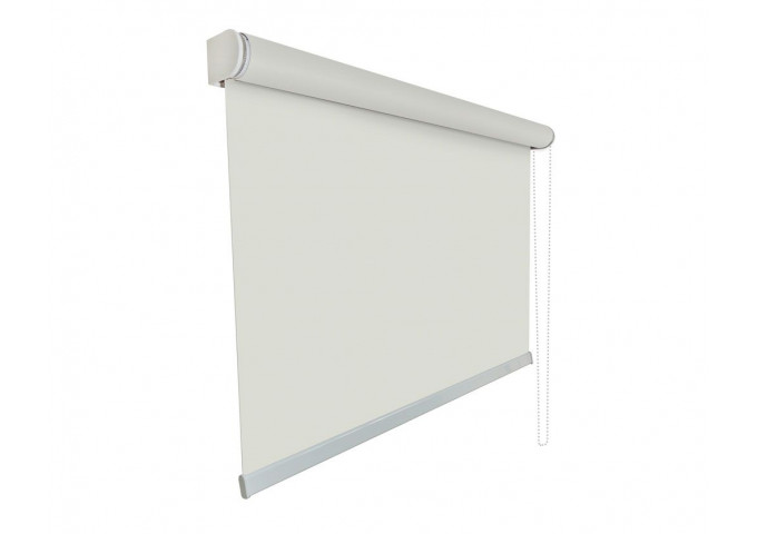 Store enrouleur toile blanc pur 100% occultante blackout 113