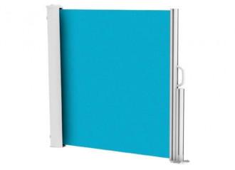 Brise vue rétractable ultra résistant avec toile Soltis 92 bleu lagon 2160