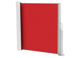 Brise vue rétractable ultra résistant avec toile Soltis 92 rouge 8255