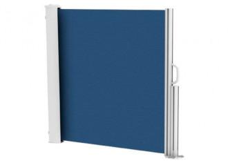 Brise vue rétractable ultra résistant avec toile Soltis 92 bleu marine 50342