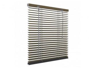 Store vénitien aluminium marron 25mm