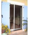 Moustiquaire latérale plissée 1 vantail pour porte sur mesure