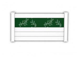 Clôture PVC ajourée Bolton avec impression feuilles d'oliviers