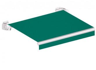 Store banne sur mesure Sinha classic, toile vert Dickson orchestra 0003, jusqu'à 4m80x3m