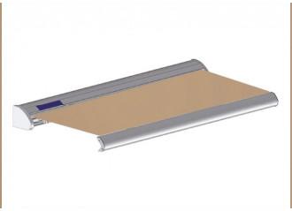 Store solaire avec coffre modèle SOLAR sur mesure, toile toast Dickson orchestra 8891, jusqu'à 5m90 x 3m