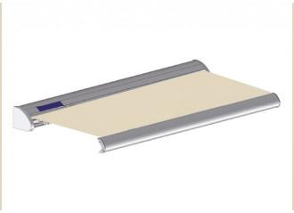 Store solaire avec coffre modèle SOLAR sur mesure, toile ivoire Dickson orchestra 7548, jusqu'à 5m90 x 3m