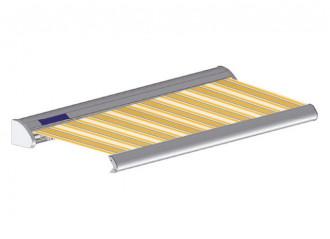 Store solaire avec coffre modèle SOLAR sur mesure, toile vancouver Dickson orchestra 7485, jusqu'à 5m90 x 3m