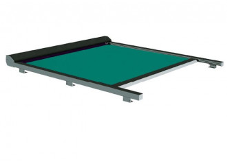 Store véranda Classic sur mesure sur mesure, toile vert Dickson orchestra 0003, jusqu'à 5m x 4m20