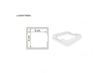 Cache-platine PVC 80x80mm