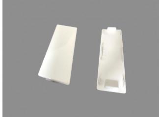 Bouchon plat pour lame PVC 100 x 30mm