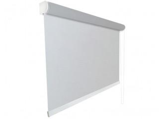 Store enrouleur Anti-chaleur toile 1% d'ouverture gris 007007 jusqu'à 240cm de large