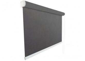 Store enrouleur Anti-chaleur toile 1% d'ouverture charcoal et bronze 010011 jusqu'à 240cm de large