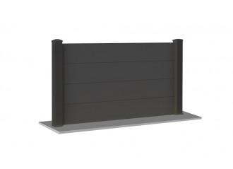 Clôture PVC gris anthracite Bokeh