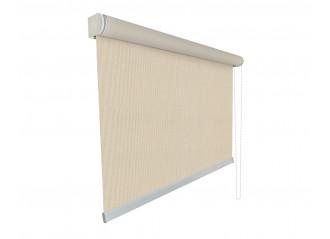 Store enrouleur Anti-chaleur toile 1% d'ouverture blanc Lin 002008 grande dimensions