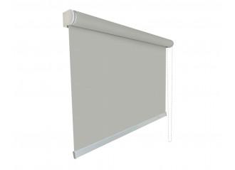 Store enrouleur Anti-chaleur toile 1% d'ouverture blanc perle et gris 002007 grande dimensions