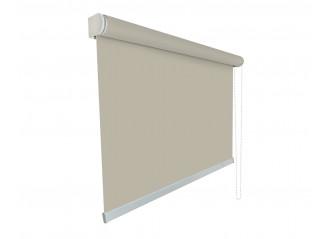 Store enrouleur Anti-chaleur toile 1% d'ouverture gris et lin 007008 grande dimensions