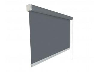 Store enrouleur Anti-chaleur toile 1% d'ouverture gris et charcoal 010001 grande dimensions