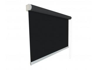 Store enrouleur grande largeur sur mesure screen tamisant 3% noir