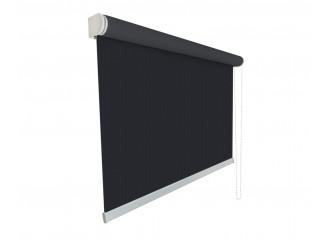 Store enrouleur grandes dimensions jusqu'à 4,00 mètres toile noire 100% occultante OPAC 400 CHARCOAL