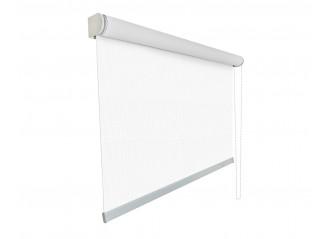 Store enrouleur grandes dimensions jusqu'à 4,00 mètres toile blanche 100% occultante OPAC 400 WHITE