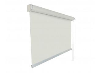 Store enrouleur grandes dimensions jusqu'à 4,00 mètres toile blanc crème 100% occultante OPAC 400 LINEN