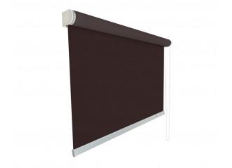Store enrouleur grande largeur sur mesure screen tamisant 3% marron et noir