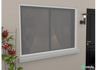 Moustiquaire de fenêtre enroulable verticale sur mesure Saga