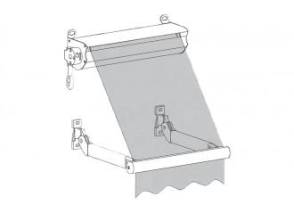Store à projection coffre et sans guidage