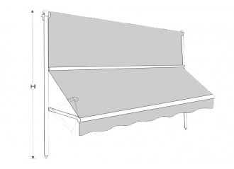 Store à projection sans coffre avec guidage Crocus bis
