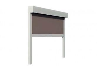 Store enrouleur extérieur coffre Azalée 55 coulisses ou câbles toile Soltis Opaque 6002