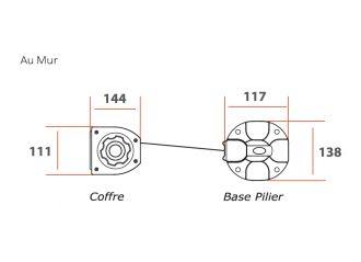 Brise vue rétractable ultra résistant avec toile Soltis 96 2047 anthracite