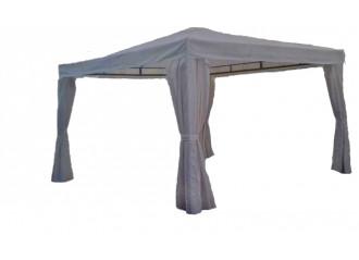 Occasion tonnelle en bois avec traverses en acier avec toile polyester 3,5m x 3,5m