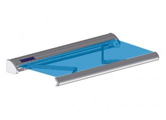 Store banne coffre SOLAR avec motorisation autonome par panneau solaire