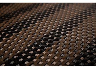 Brise vue en résine tressée two-tone brown RD06 Rattan art