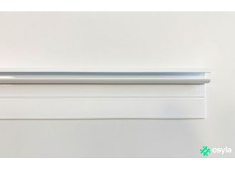 Rail caravane blanc 120cm pour jonc de 6mm