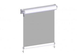 Store extérieur vertical avec coffre toile acrylique Dickson et tiges inox 10mm